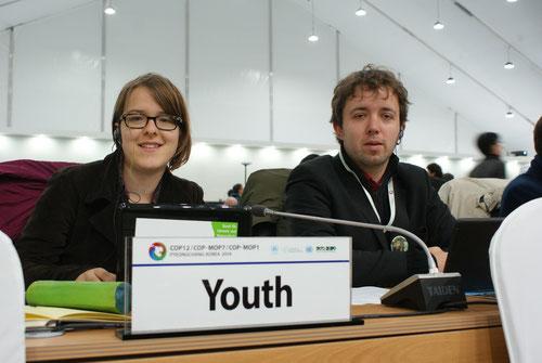 Helene und Marco im Plenum