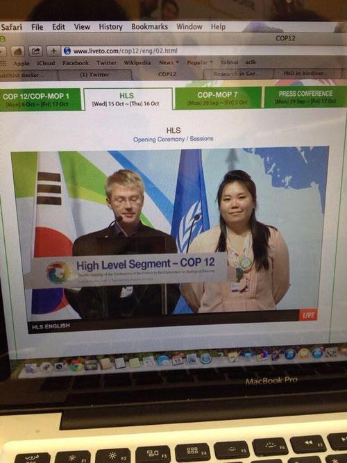 Christian und Melina sprechen für GYBN während der Eröffnung des High Level Segment