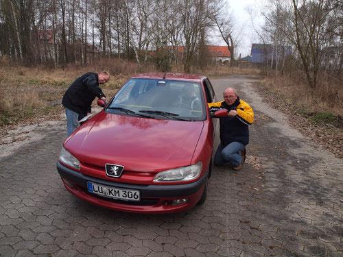 Klaus Muth, ohne Beifahrerin(krank).