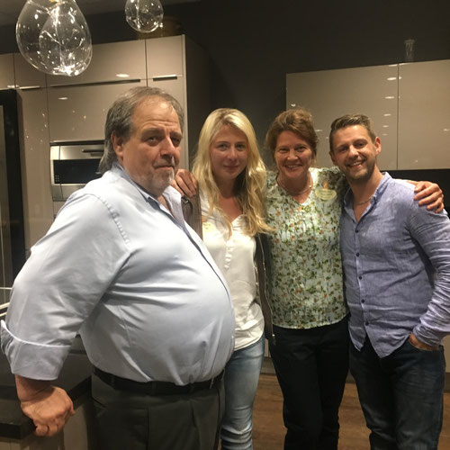 "31.07.2016 Eröffnung des neuen ""Alten Gewürzamt"" - Ingo Holland mit Anja Knogler, Andrea Kolbeck & Kilian Holland"