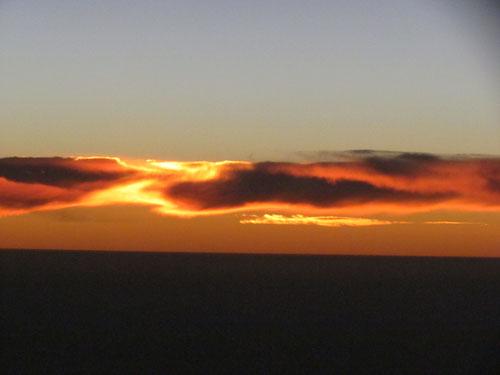 Sonnenaufgang über Namibia
