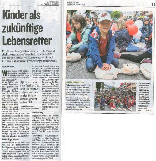 Bericht Kleine Zeitung 25.05.16