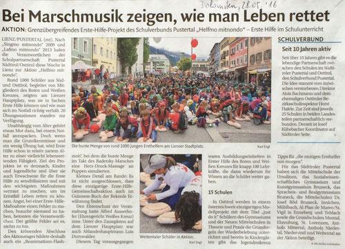Bericht Dolomiten 28.05.2016