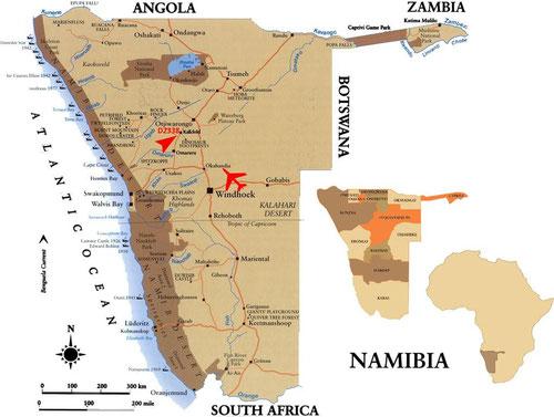 Kartenquelle: www.hunting-portal-namibia.com