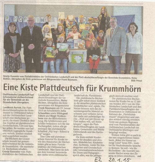 Emder Zeitung 20.01.2015