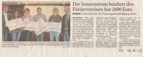 Ostfriesenzeitung 16.08.2013