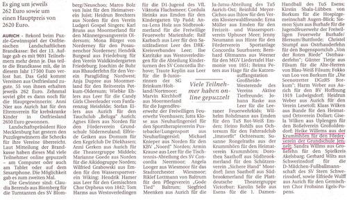 Ostfriesen-Zeitung 15.6.2016