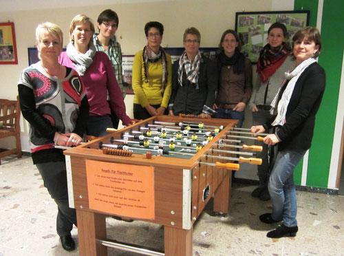 von links nach rechts: Heike Willems, Silvia Hinrichs, Monika Wagenaar, Marion Uilderks, Anja Janßen, Sonja Hillebrand, Anne Braun, Jutta Lerche-Schaudinn