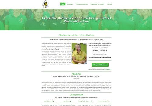 Website Häusliche Krankenpflege Straßburger GmbH Wermelskirchen