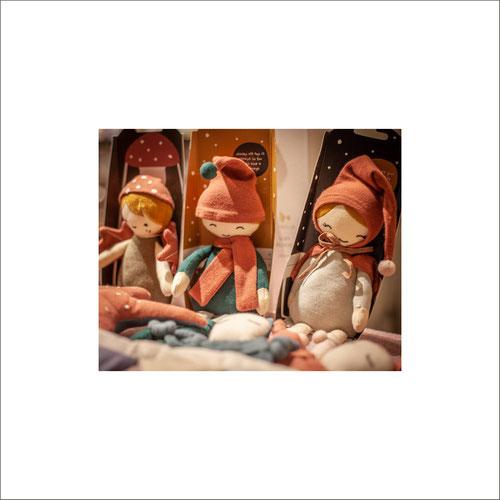 Fabelab Baby-Artikel Geschenke Puppen Beissringe Lätzchen Wimpel Elfen Rasseln Bio-Baumwolle Schneekugeln Weihnachtssocken