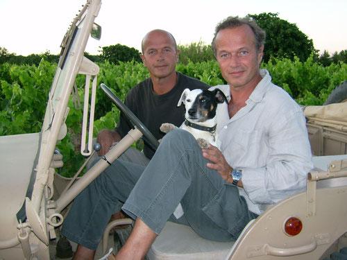 Pierre et Laurent Malet (et Paulo , le Jack Russel) 2007 Ph M.A.