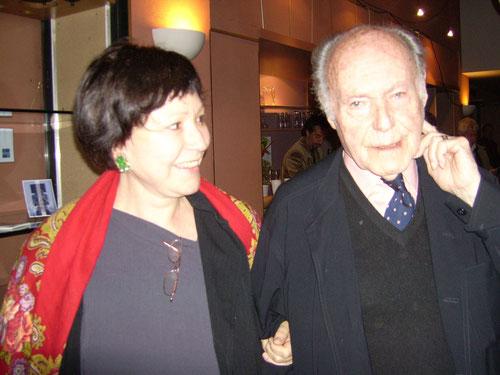 Christine Goémé et René de Obaldia, Paris 2007 Ph M.A.
