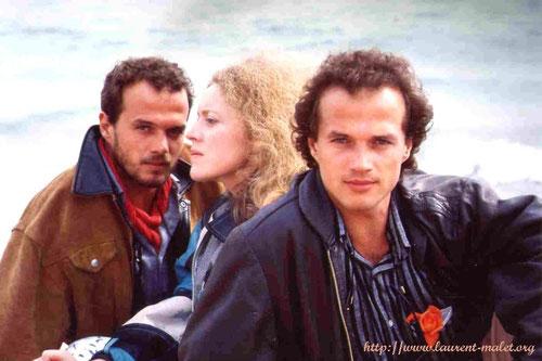 """Laurent et Pierre Malet avec Isabelle Renauld """"La part de l'autre"""", 1985"""