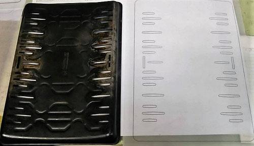 昭和屋工業,オーダー,鉄板,スリット,穴,焼肉,ロースター,6㎜,厚さ,3.2㎜,重い,3D,2D,CAD,プレス