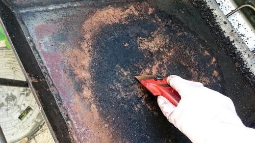 鉄板プレス料理 シーズニング 鉄板 お手入れ 手入れ 錆落とし 極厚 BBQ bbq メンテナンス 磨き方 手入れ方法