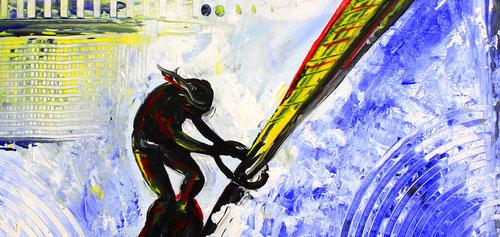Details: WINDSURFER - Surfer Bilder Gemälde - Wellenreiter Kunst Malerei Sportbilder kaufen