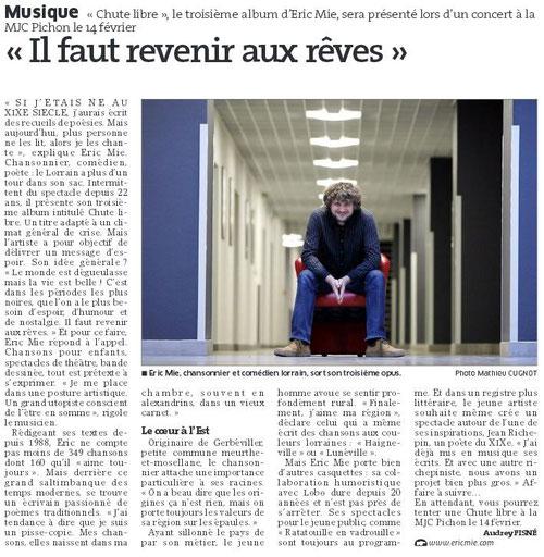 Est Républicain 2 Février 2014