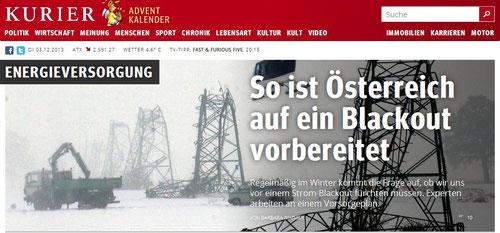 Vorbereitungen auf ein Blackout in Österreich laufen