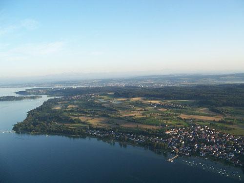 Dingelsdorf aus der Luft