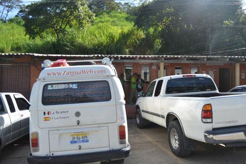 Nuestro sitio para dormir en migración hondureña