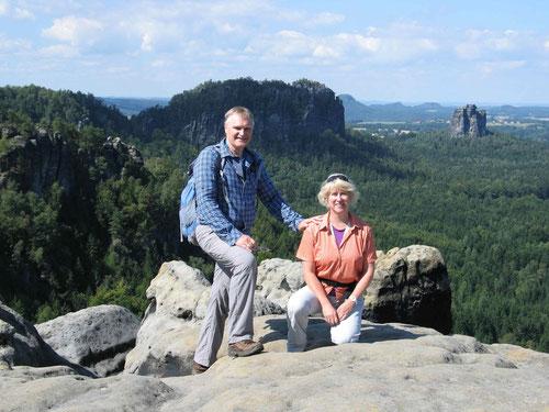 Sylvia und Mathias von den GiveMeFive im Elbsandsteingebirge