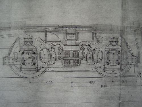 炭水車の台車はC59,C60,C61で使われていたものを代用。