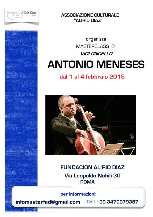 Masterclass Antonio Meneses in Rome