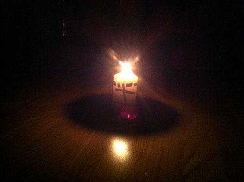 Kerze an - Computer aus
