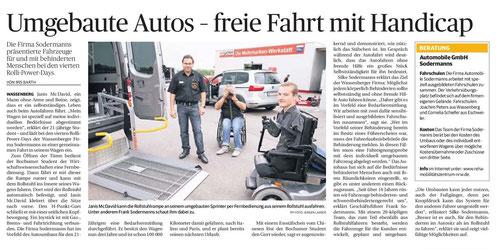 Umgebaute Autos - freie Fahrt mit Handicap