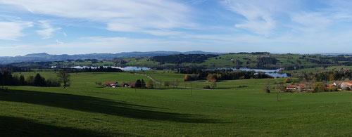 Blick auf Rottachsee hinterm Haus