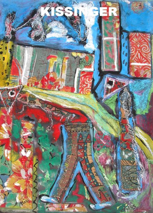 Peinture Claudine Kissinger CKISS artiste art spontané