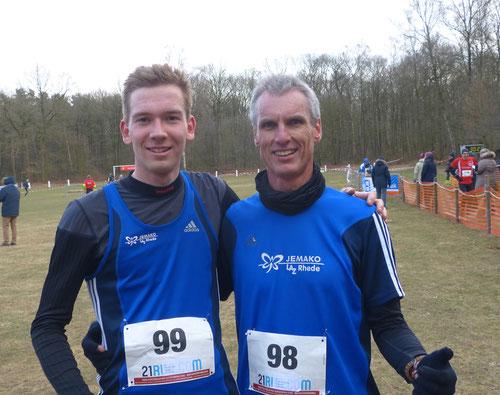 Sieger unter sich: Marcel Eckers (links) und Friedhlem Betting (M50) siegten jeweils in ihrer Altersklasse.