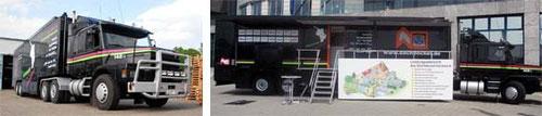 Dachdecker-Truck vom Landesinnungsverband des Dachdeckerhandwerks | Baden-Württemberg