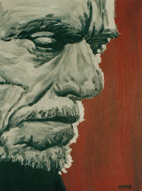 Charles Bukowski - oil on canvas - 40x30 cm - 13.05.2000