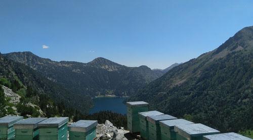 Le rucher de Cap de Long à 2153m d'altitude, dans le Massif du Néouvielle.