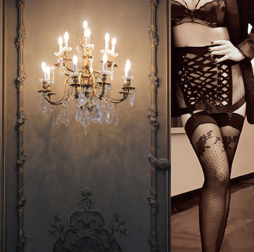 Honey Birdette suspender Courtney lingerie set