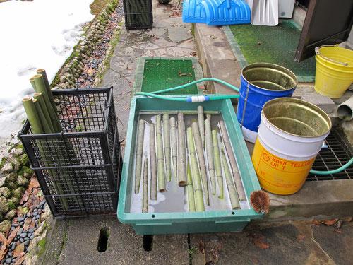 竹洗いの現場に、カメラが入りました。