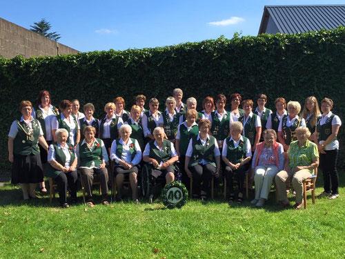 40 Jahre Damenabteilung. Quelle des Fotos Schützenverein Ahrensfluchtermoor-Hemmoor
