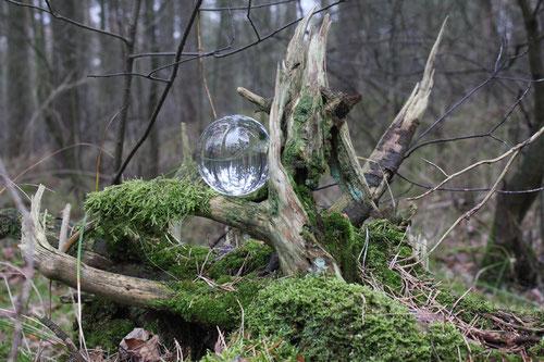Fantasie & Wirklichkeit Fotografien und Gedichte Kathrin Steiger Kugel Glaskugel
