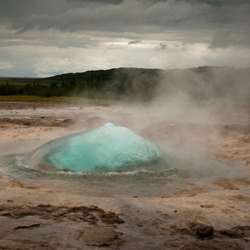 Strokkur - formation de la bulle - Islande - 14/07/2015