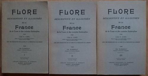 Les 3 volumes de la Flore de Coste