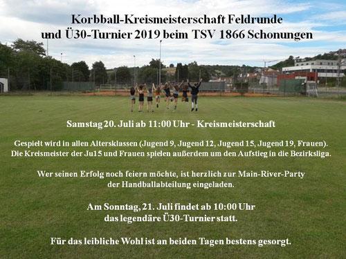 TSV 1866 Schonungen - Korbball-Kreismeisterschaft