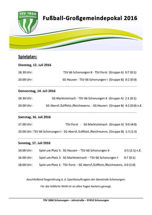 TSV 1866 Schonungen - Fußball-Großgemeindepokal 2016