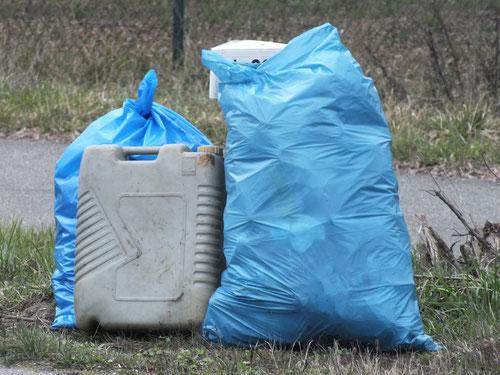 Über 20 Müllsäcke wurden benötigt