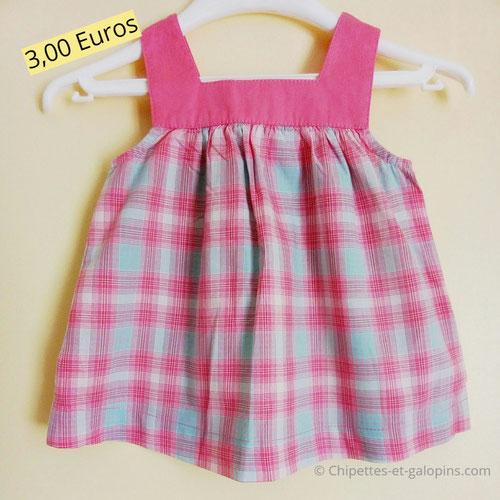 vetements occasion bébé. blouse Obaïbi pas cher fille 18 mois