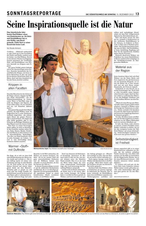 Paul Widmer in Die Südostschweiz 9.12.2012