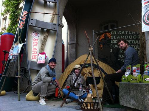 SOLARIS Werbestand in der Innenstadt von Prenzlau. Danke an Steffi, Eric und Herrn Mielke...