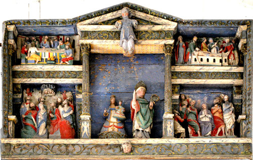 Le retable de l'église de Bernâtre