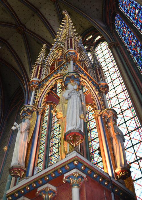 la Chapelle axiale vue de derrière l'autel