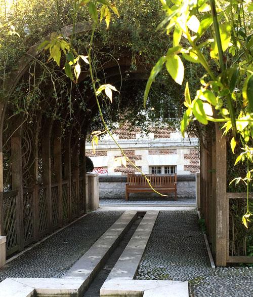 Au jardin médiéval près de la cathédrale- Photo: Anne Bamière